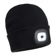 Knitted Beanie Hat With LED Head Light