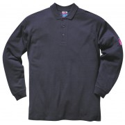 Flame Retardant Long Sleeve Polo Shirt