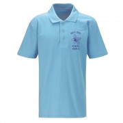 Bryn Deri Primary Sky Blue Polo Shirt Year 6 Only