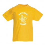 Bryn Deri Primary P.E TShirt Yellow