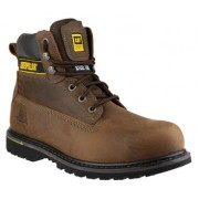 CAT Holton Safety Boot Brown
