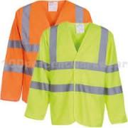 Hi Vis Long Sleeve Jerkin Yellow/Orange