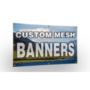 Personalised Mesh Banner One Metre Long
