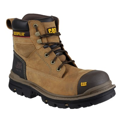 0e6db71a2c3 CAT Gravel Brown Safety Boots