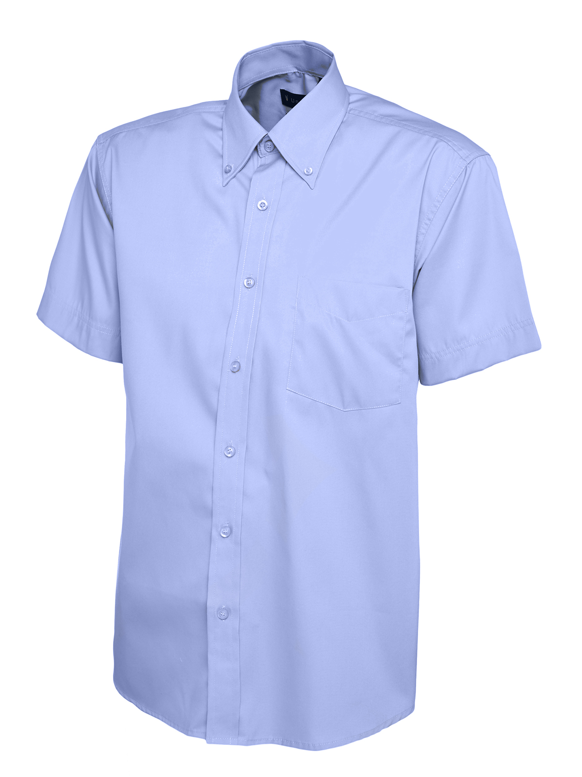 Uc702 mens short sleeve oxford shirt for Mens short sleeve oxford shirt