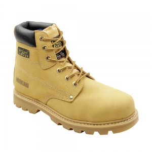 WK4 Tan Nubuck Safety Boot