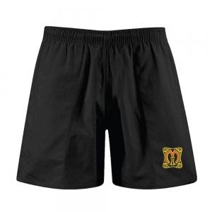 St Martins Black Rugby Shorts Kids Sizes