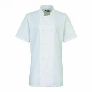 PR670 Lady's Short Sleeve Chef's Jacket