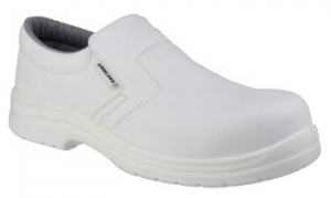 FS510 White Slip On Safety Shoe