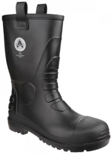 FS90 Black Waterproof Pvc Rigger Boot