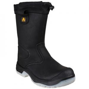 FS209 Black Rigger Boot
