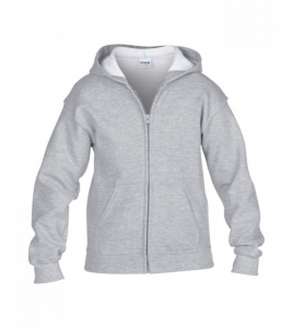 GD58B Kids  Gildan Zip Up Hooded Sweatshirt