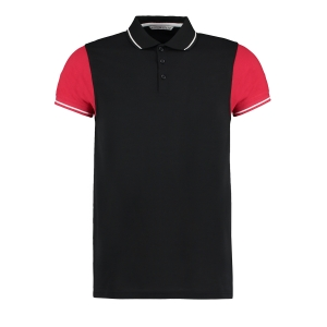 KK415 Contrast Tipped Polo Shirt