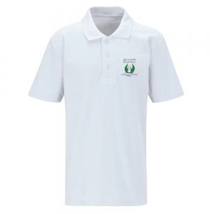 Bedwas High White Polo Shirt Adult Sizes