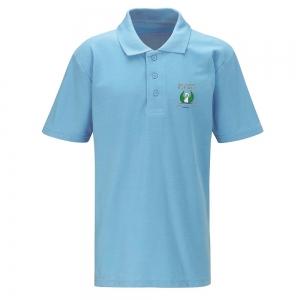 Bedwas High Sky Blue PE Polo Shirt Adult Sizes